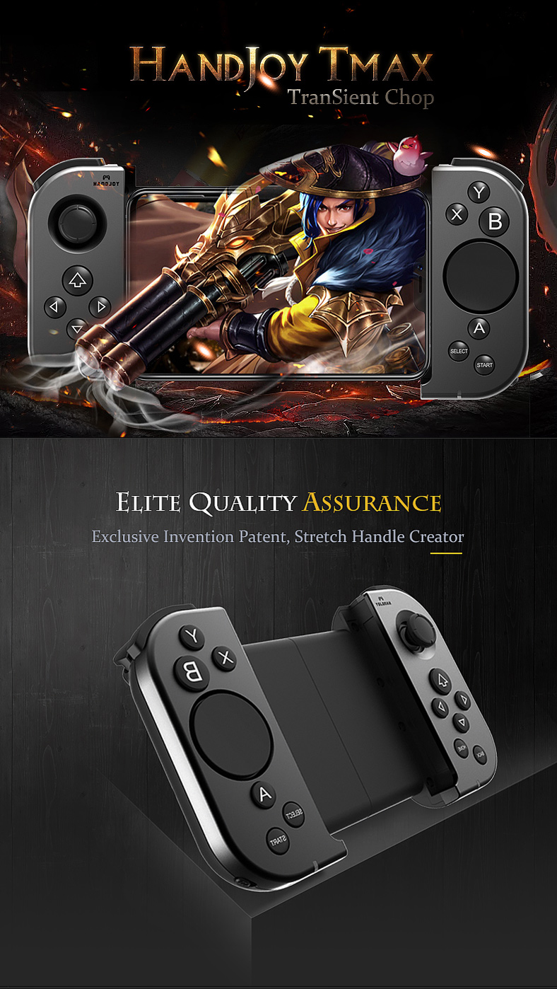 HandJoy Tmax bluetooth Joystick Gamepad With Touch Button Game Controller For Pubg Mobile Phone Game