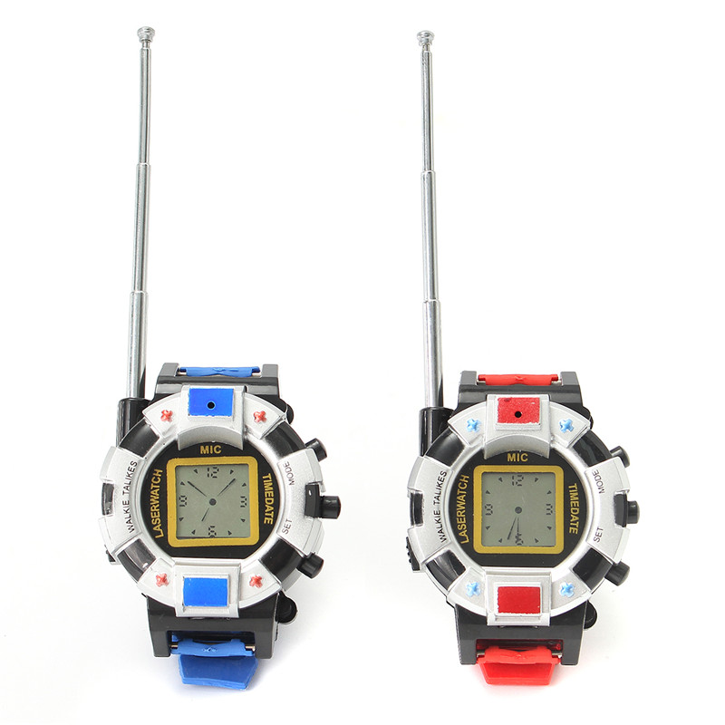 2PCS Children Wrist Watch 100M Radio Walkie Talkie Toys Kids Camouflage