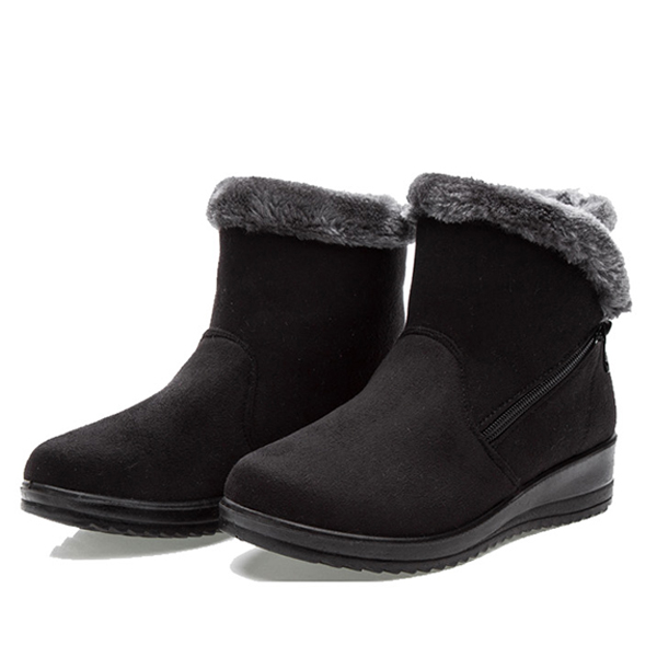 New Large Size Women Winter Boots Round Toe Ankle Short Snow Boots