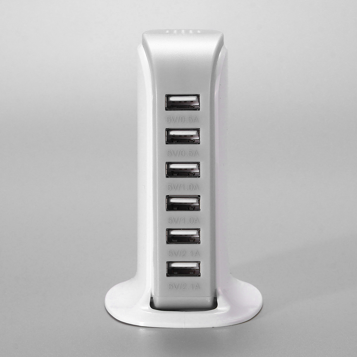 Multifunction 6 USB Ports Desktop Fast Charging Travel Wall Charger Station Power Adapter US Plug
