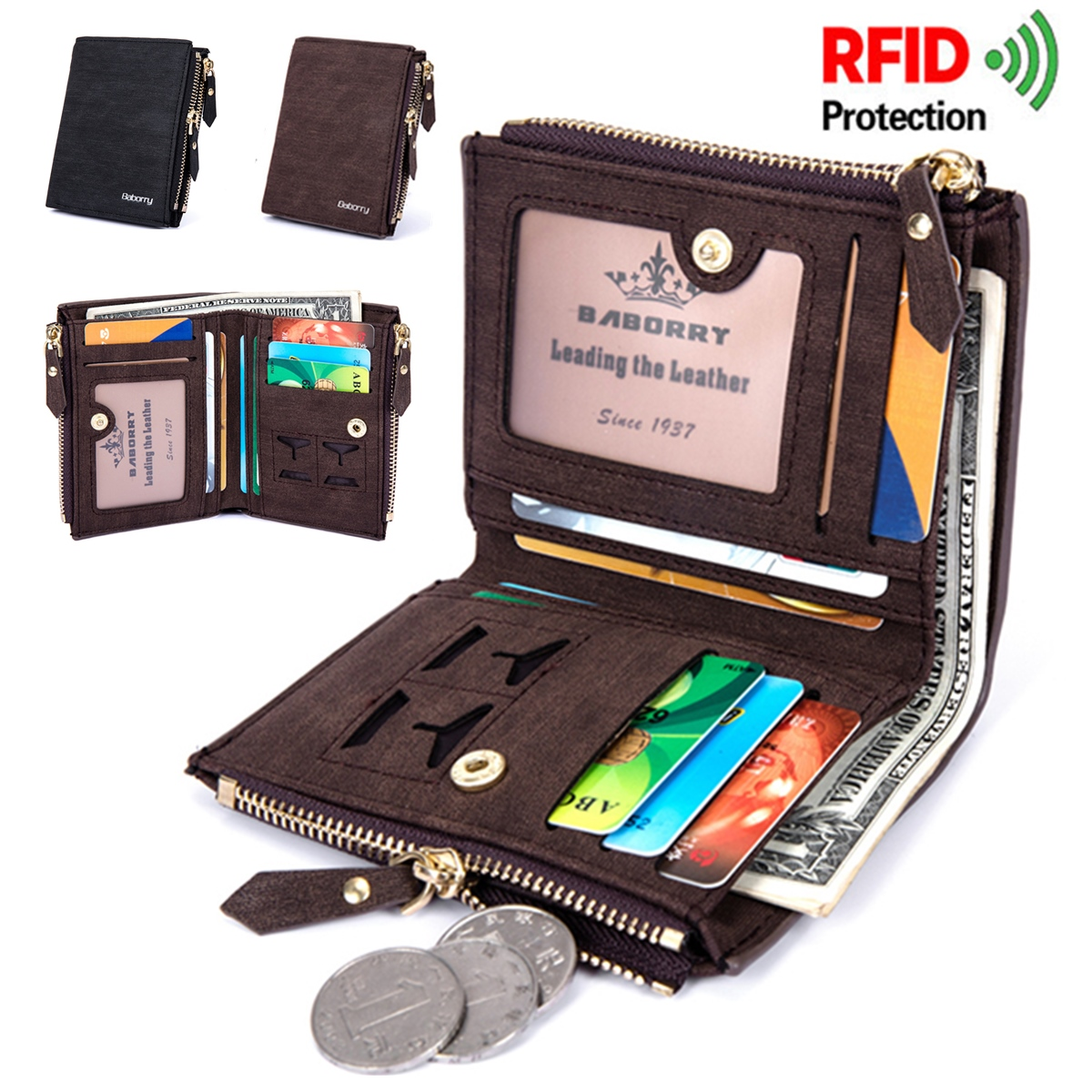 RFID Blocking Secure Wallet Protective Coin Bag