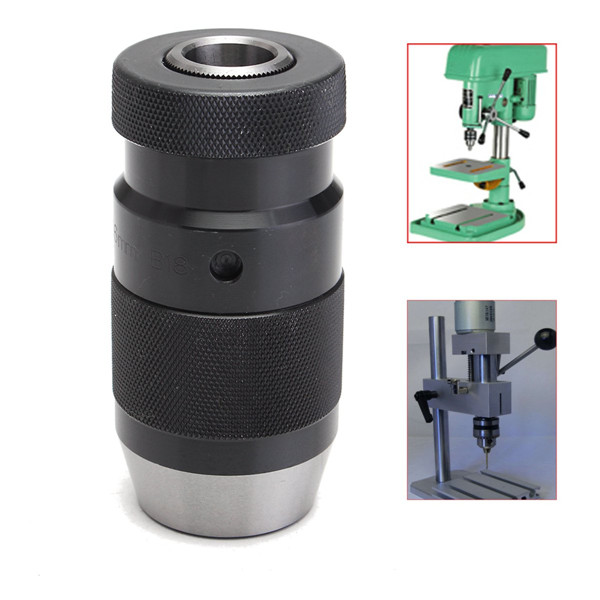 B18 1-16mm Alloy Self-locking Click Keyless Drill Chuck Adapter For CNC Milling Drilling Lathe