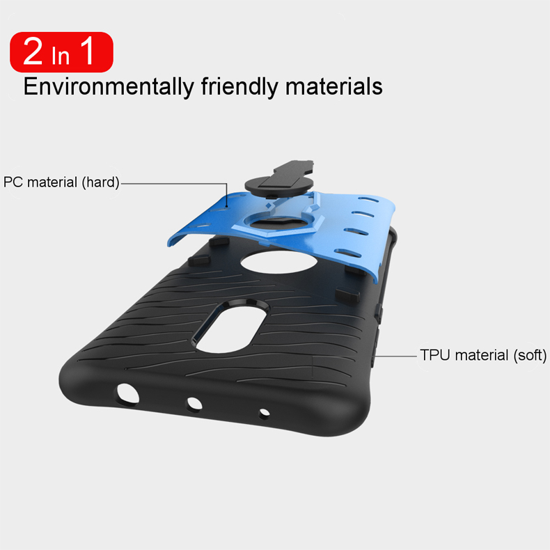 Shockproof TPU+PC Armor 360-degree Rotation Holder Back Case For Xiaomi Redmi Note 4