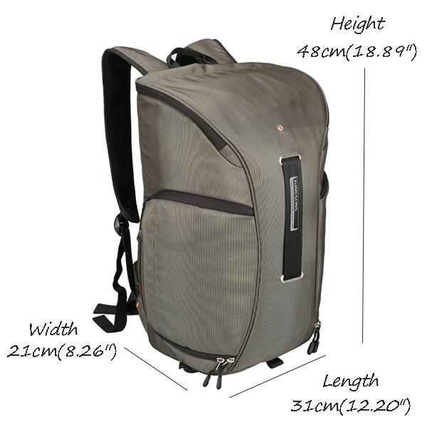 Men KINGSONS Waterproof Photography Digital Camera Backpack