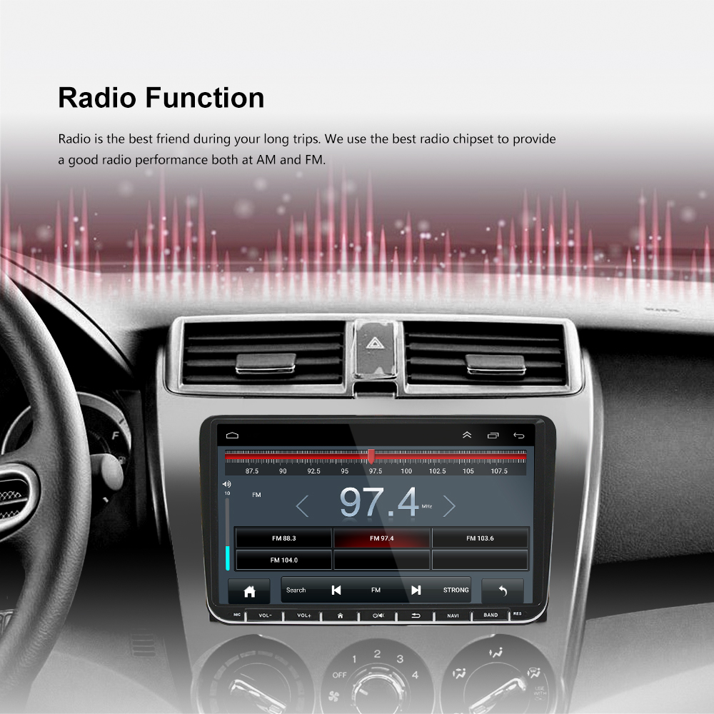 Ezonetronics ML-CKVW92 Android 6.0 Car Radio Stereo 9 Inch Touch Screen Car GPS Navigation