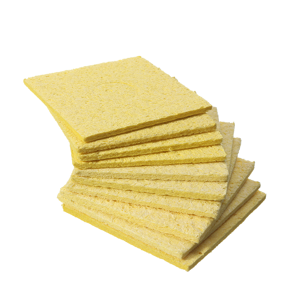10Pcs Welding Soldering Iron Tip Replacement Sponge Cleaning Pads 6*6cm/3.5*5cm - Photo: 10