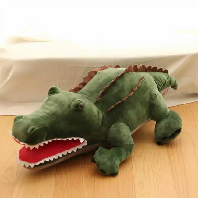 55cm Cute Cartoon Plush Green 3D Crocodile Shape Warm Hand Pillow Kids Toy Creative Gift