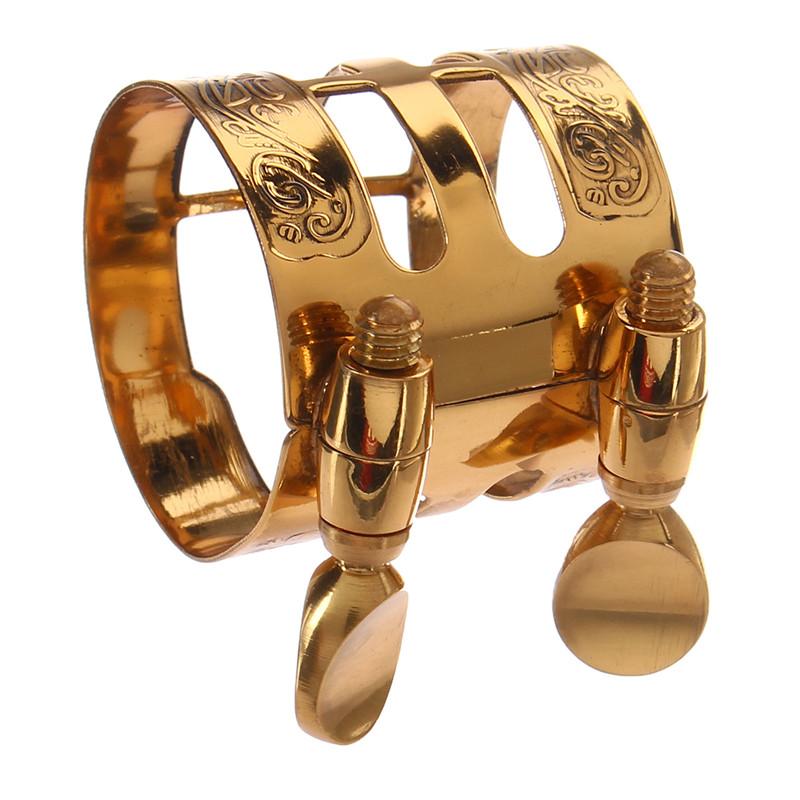 1Pc Gold Plated Alto Saxophone Mouthpiece Ligature Clip