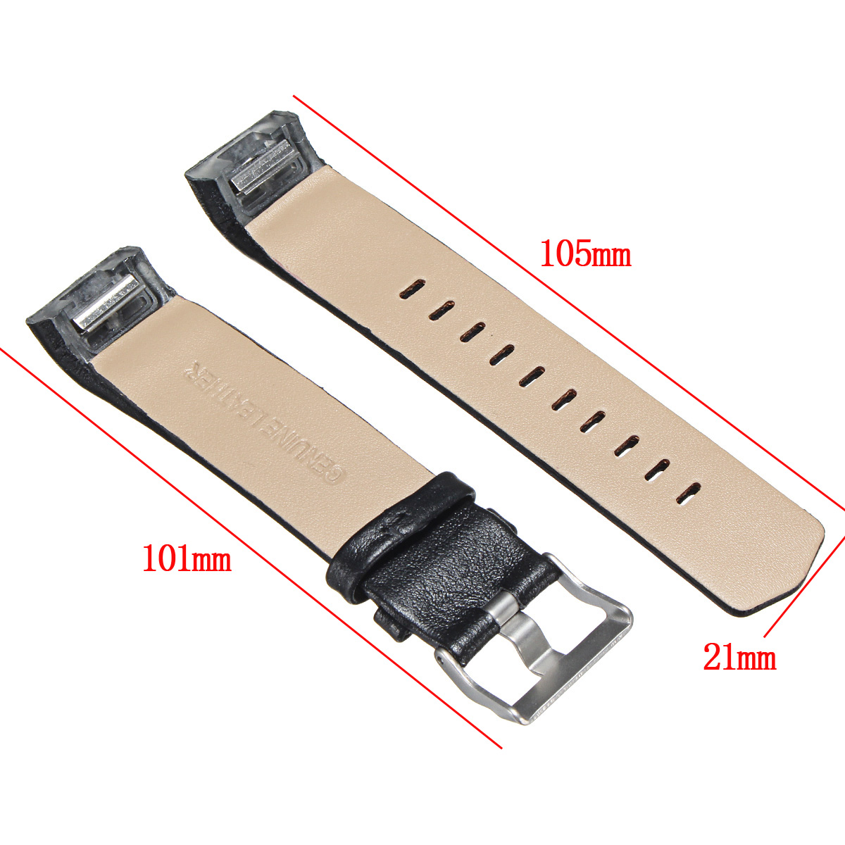 Colorful Genuine Leather Replacement Strap Wrist Watch Band For Fitbit Charge 2 Tracker