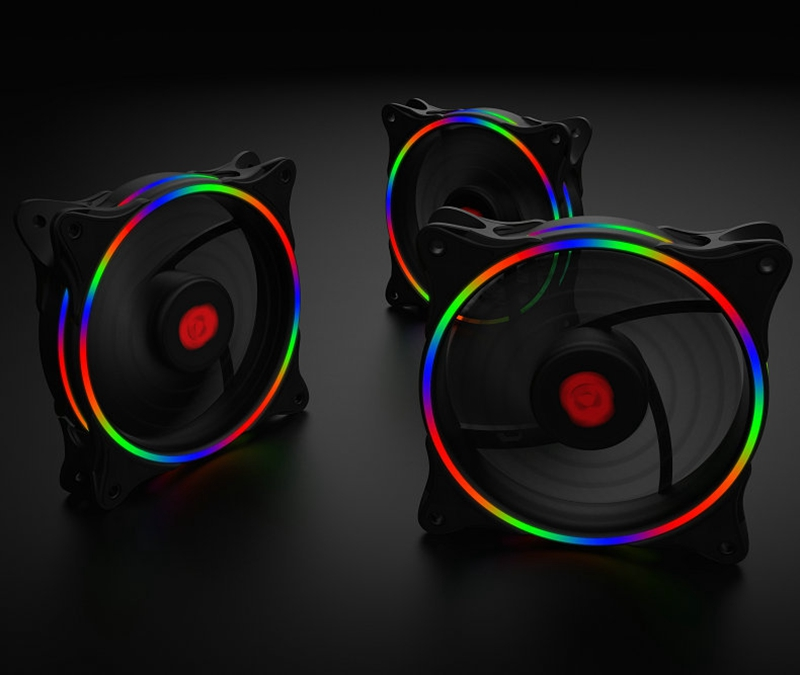 1PCS 120mm 3Pin 4Pin RGB Backlit CPU Cooling Fan Cooler Silent Radiator Heatsinks for Computer Case