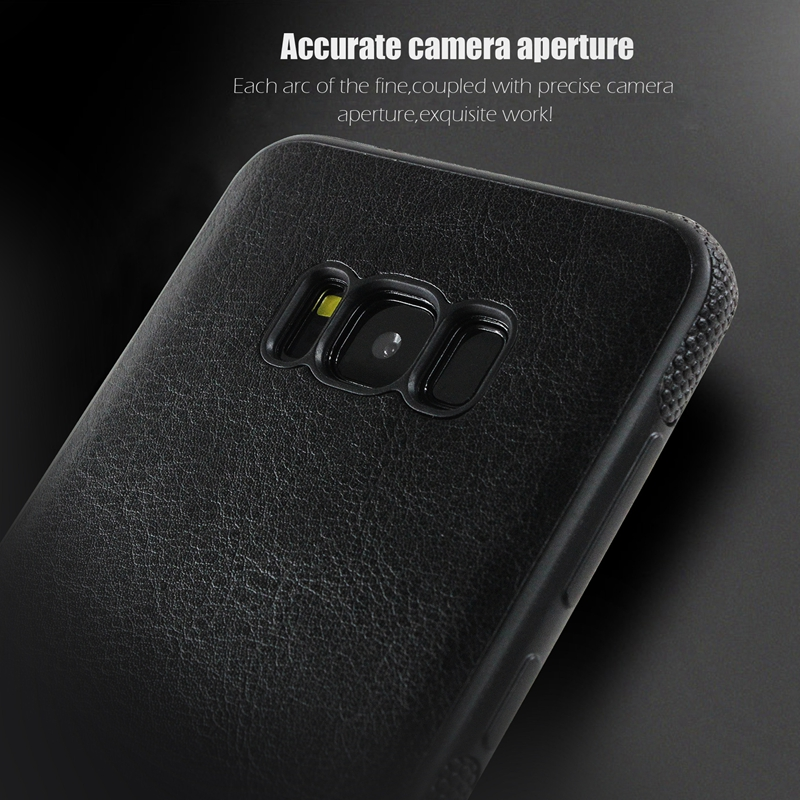 Shockproof PU Leather + Soft TPU Silicon Ultra Thin Back Cover Case for Samsung Galaxy S8