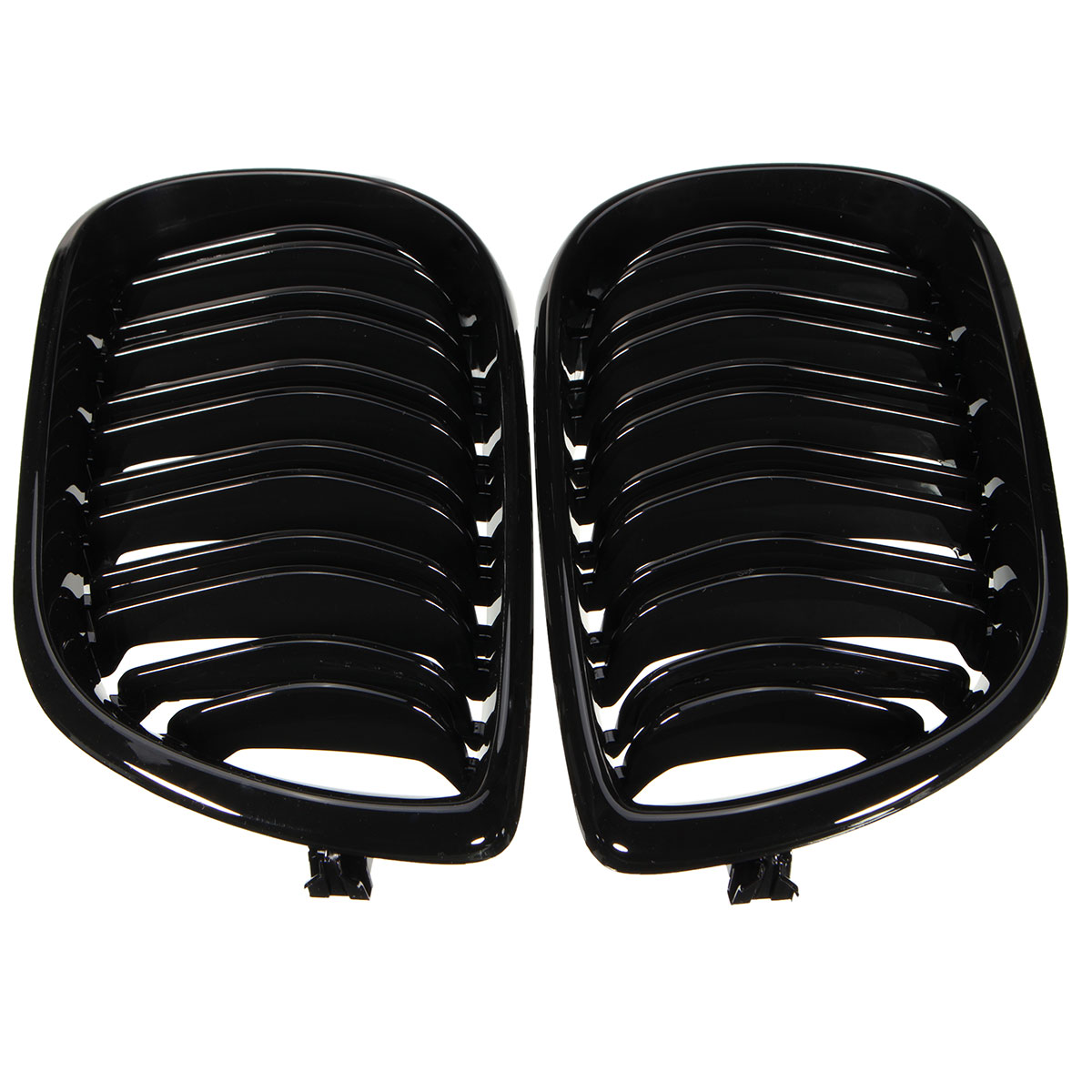 Double Line Grille Gloss Black Front Grills For BMW E46 4-DOOR 3 Series 02-04