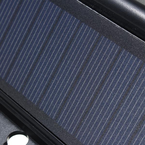 Solar Powered Predator Deterrent 4 LED Light Sensor Animal Repeller Outdoor Lamp