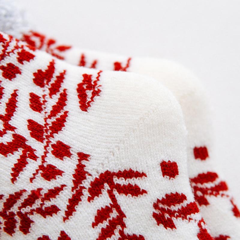 Christmas Winter Warm Thicken Plus Velvet Ski Tube Socks