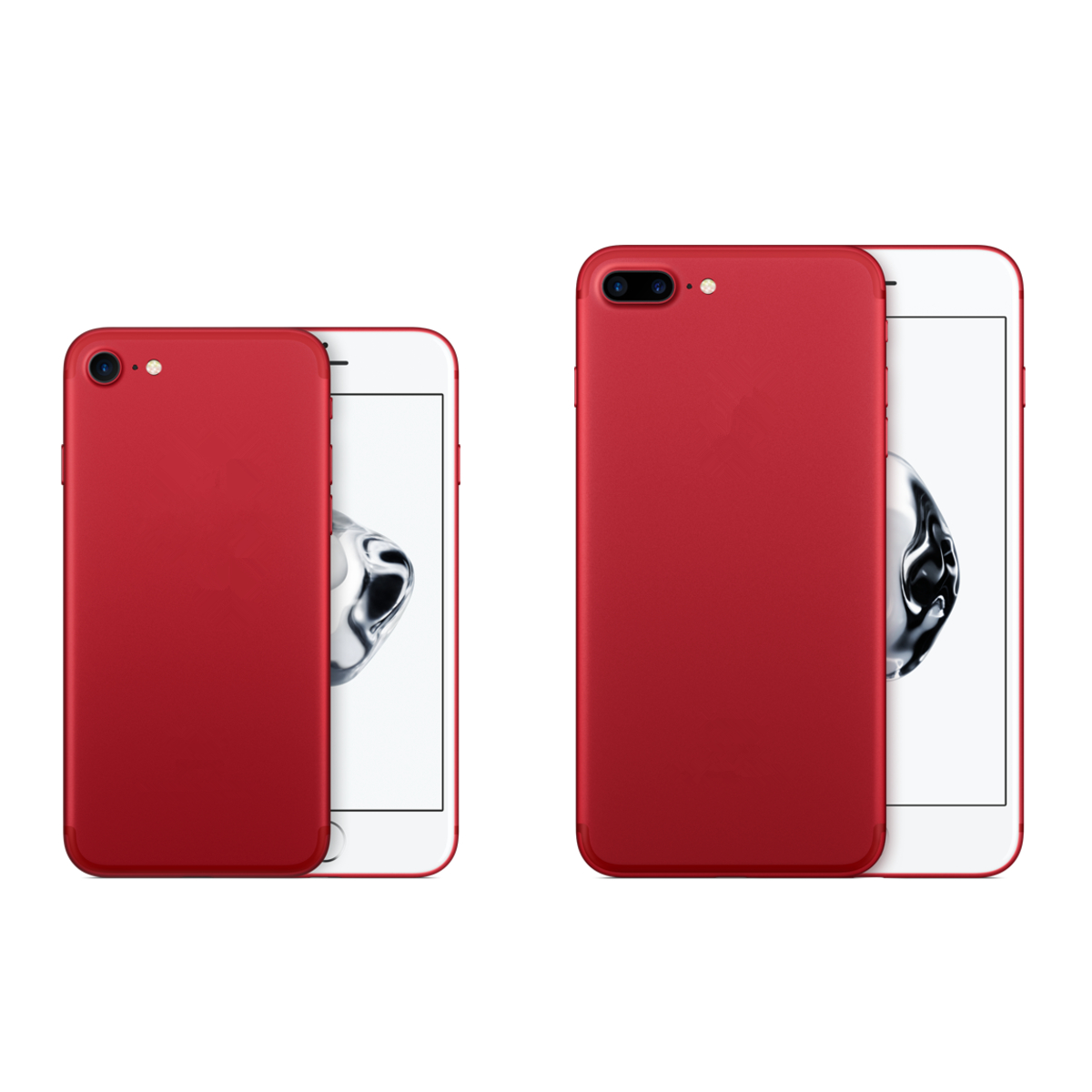 Product Red PC Shockproof Dropproof Back Case For iPhone 7/7 Plus & 8/8 Plus