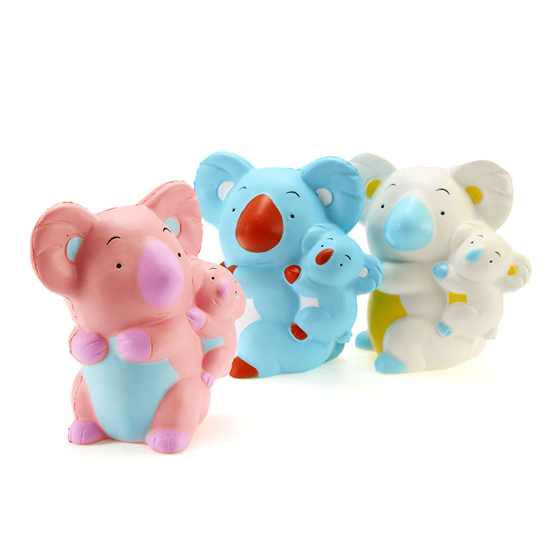 LeiLei Squishy Koala Mom Baby 10cm Slow Rising With Packaging Collection Gift Decor Soft Squeeze Toy