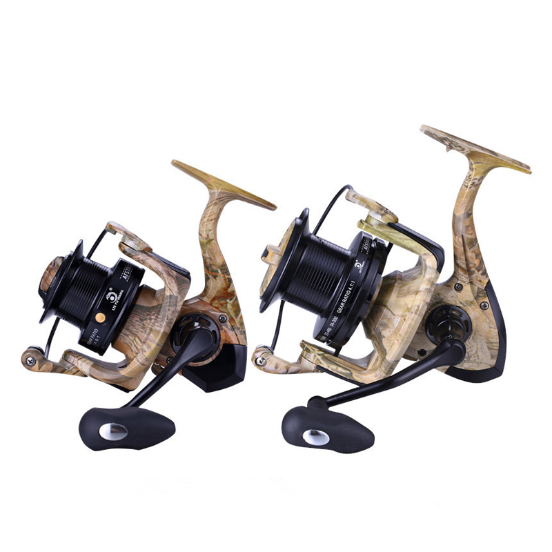 ZANLURE AFS5000-8000 All Metal 4.9/4.1:1 13BB Fishing Reel Carbon Drag Freshwater Spinning Wheel
