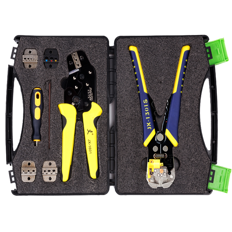 JX-D5 Multifunctional Ratchet Crimping Tool Wire Strippers Terminals Pliers Kit