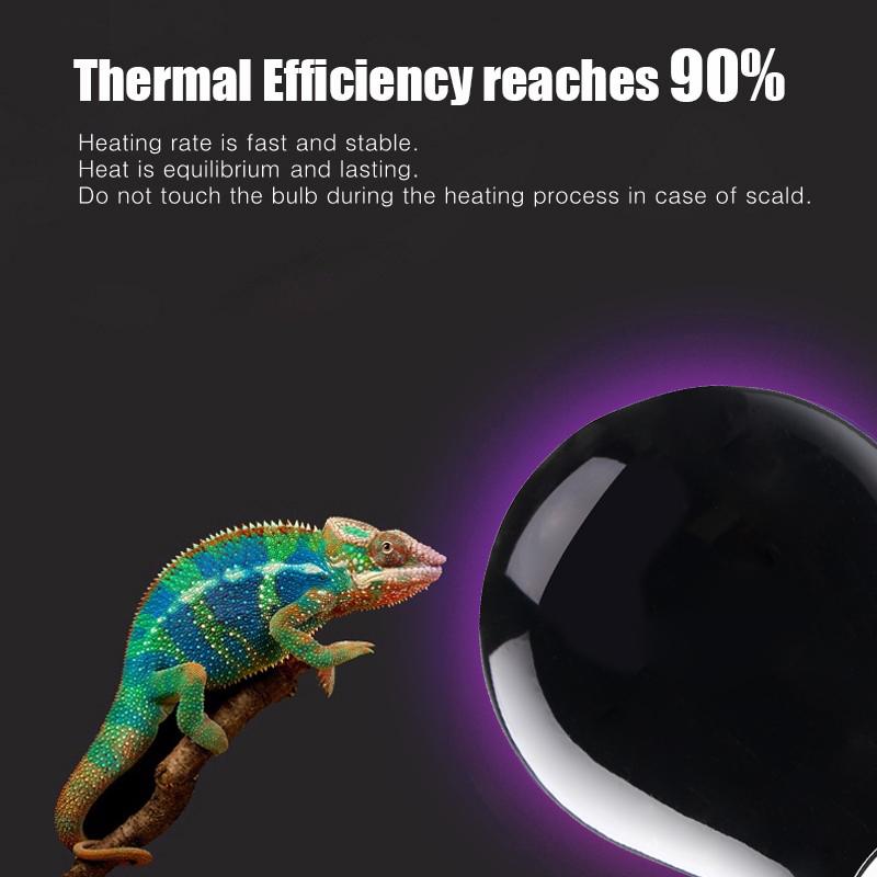 E27 25W 40W 50W 60W 75W 100W Ceramic UVA Night Heat Reptile Light AC220-240V