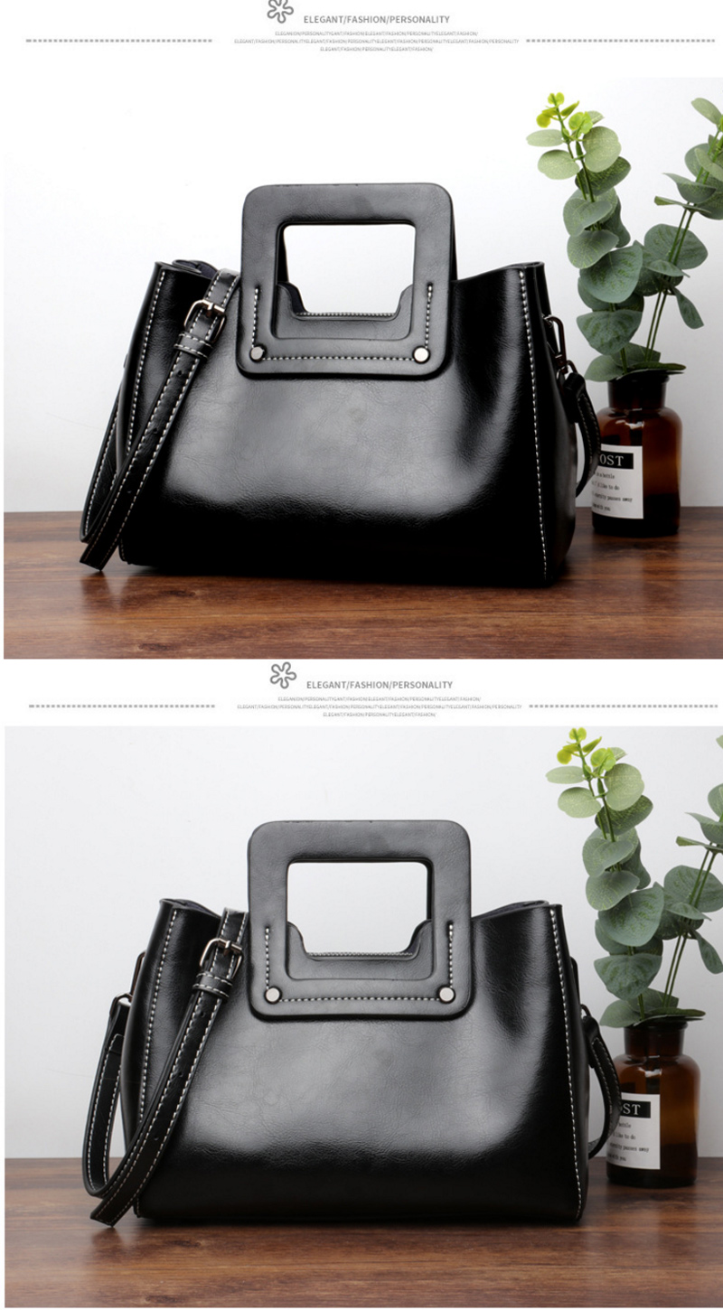 Genuine Leather Women Waterproof Messenger Bags