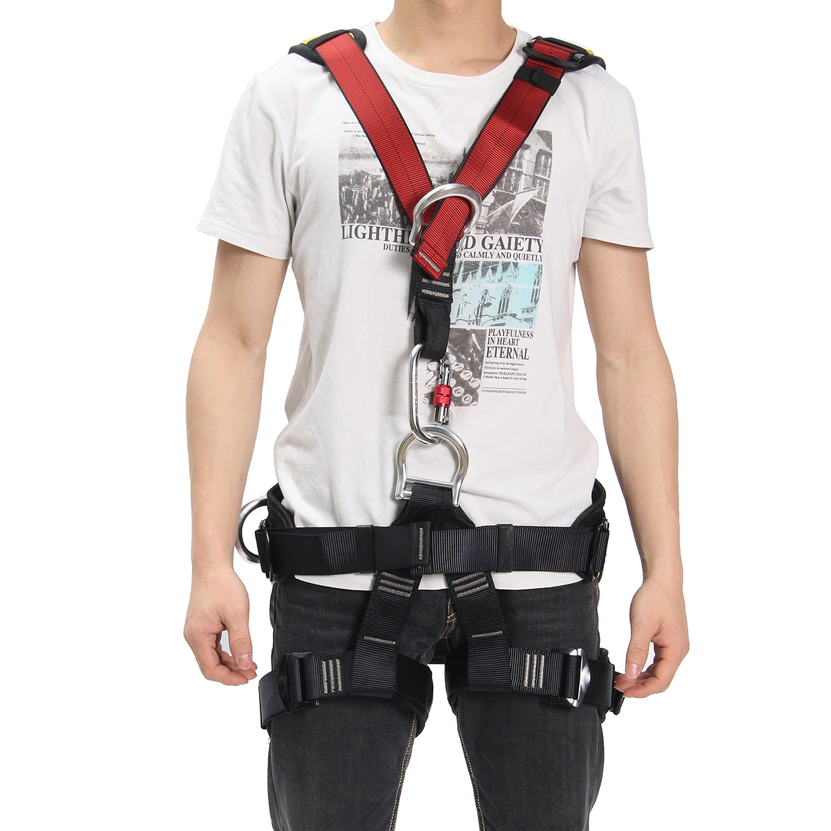 IPRee™ Outdoor Rescue Rock Climbing Safety Belt Sitting Bust Strap Seat Rappelling Harness