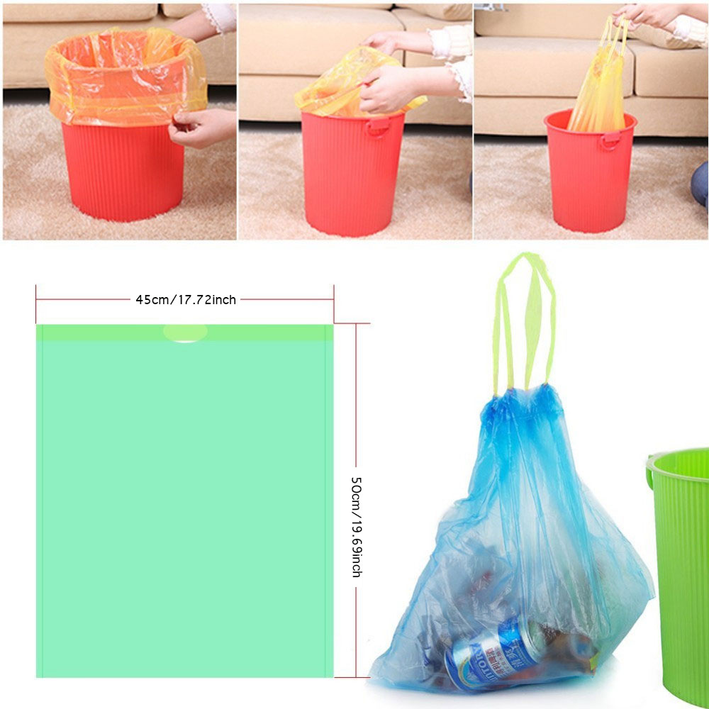 Random Color Stringing Thicken Kitchen Household Automatic Trash Can Bin Rubbish Garbage Plastic Bag