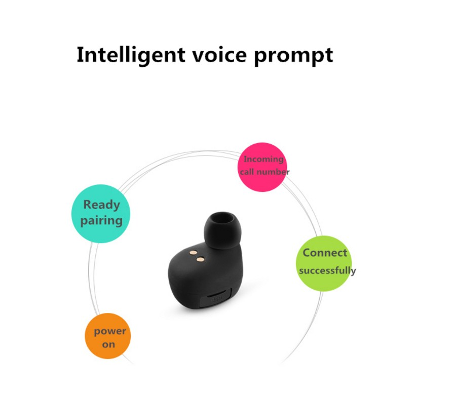 KALOAD CX-10 Mini Wireless Stereo bluetooth Headset Noise Cancellation Earphone with Charging Box