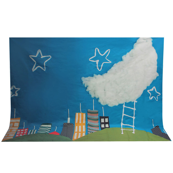 5x7ft Baby Children Photography Background Backdrop Shooting Studio Photo Props Stars Moon House