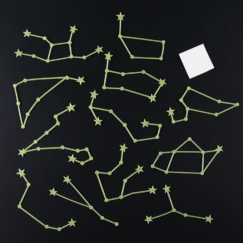 The Signs of the Zodiac Luminous Wall Stickers Romantic Sky Home Room Constellations Decor