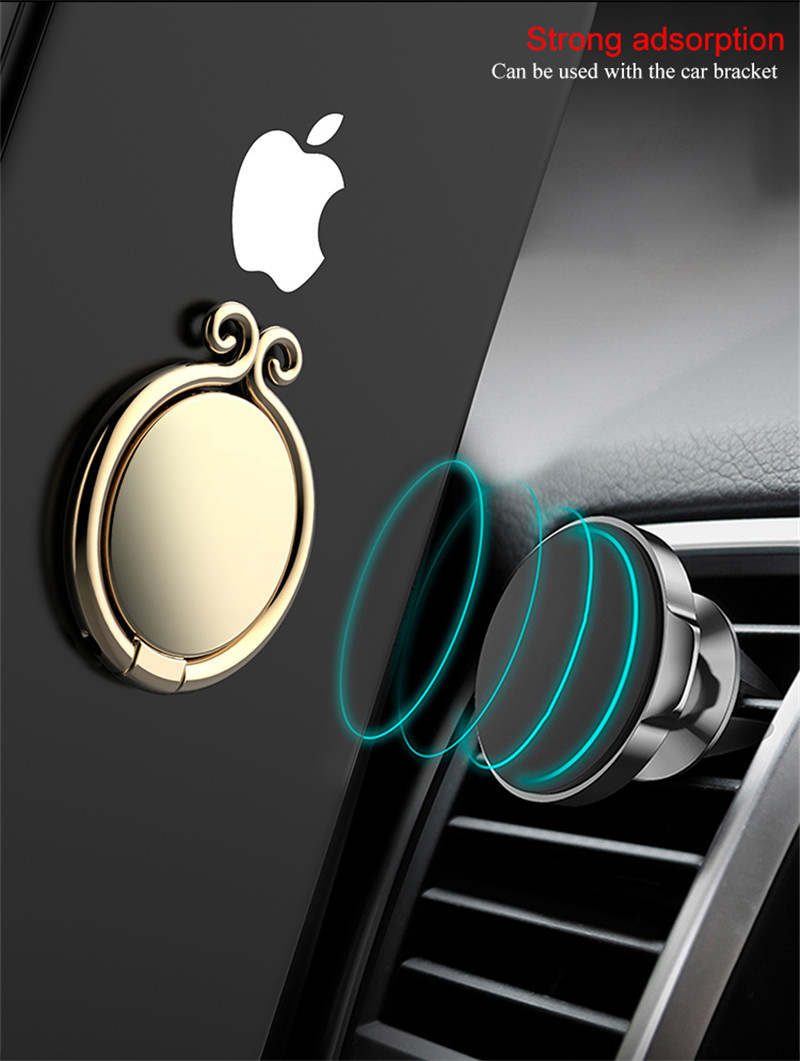 LENUO Metal Monkey King Shape Powerful Sticky Ring Holder Desktop Stand for Mobile Phone