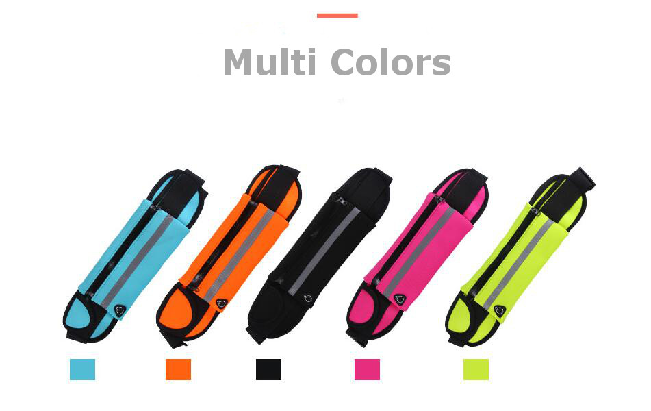 Running Sport Anti Theft Waist Bag Unisex Light Weight Phone Case Multifunction Waist Belt