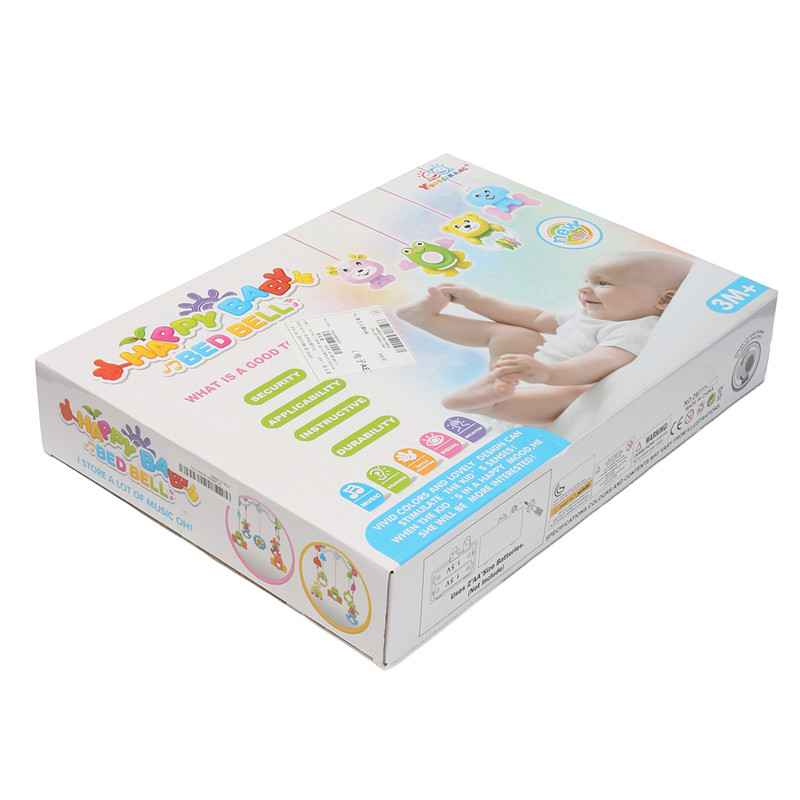 ZB777-14 Melodies Song Baby Mobile Crib Bed Bell Kid Toy Electric Music Box