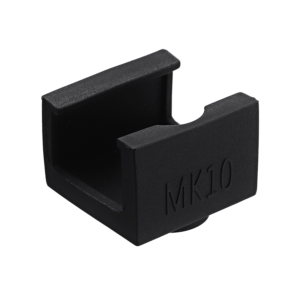 MK10 Black Silicone Protective Case for Aluminum Heating Block 3D Printer Part