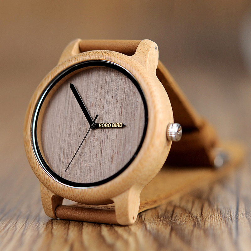 BOBO BIRD WA22 Simple Design Wood Wrist Watch Unisex Watches