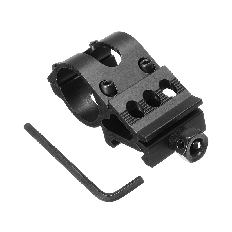 1 Inch Flashlight Laser Holder Tactical 20mm Picatinny Rail Offset Laser Mount