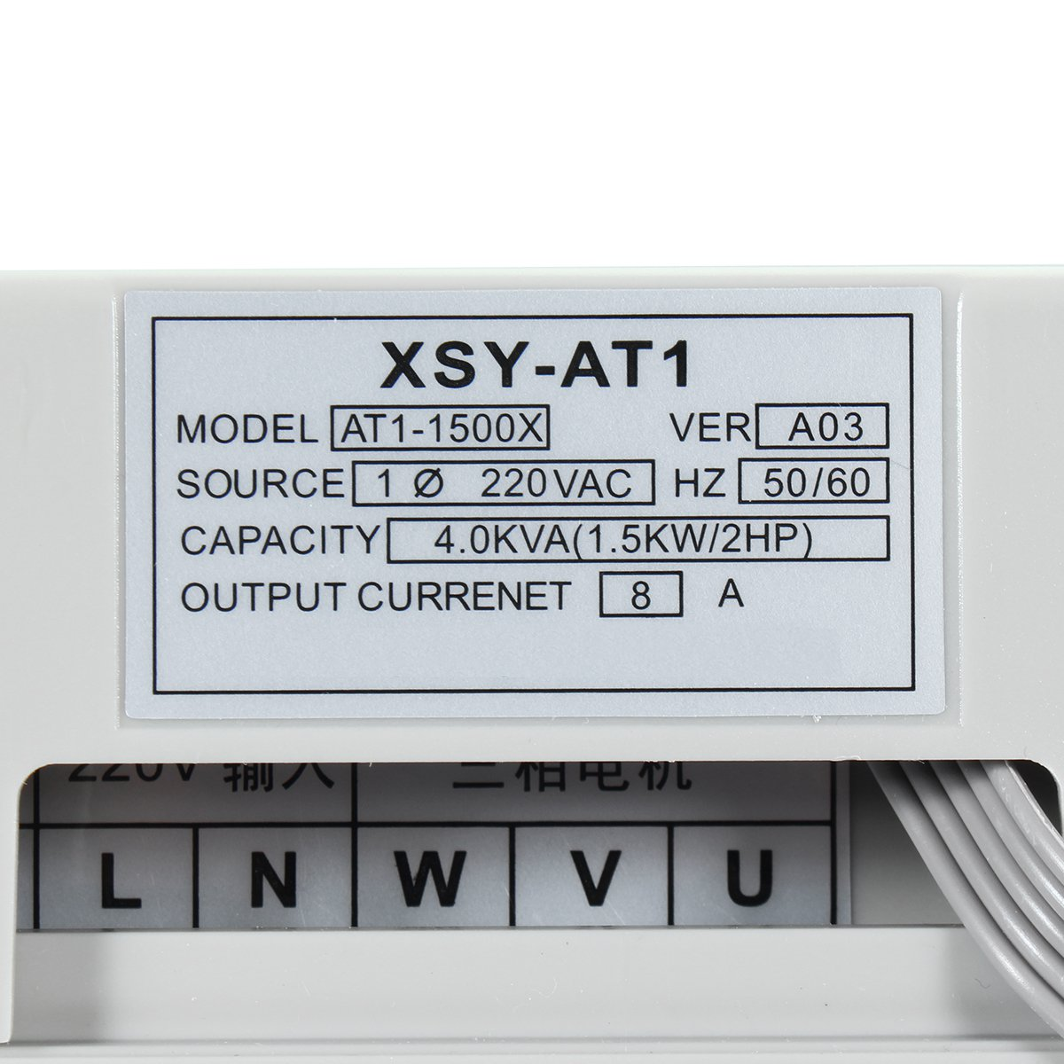 220V 1.5KW Single Phase Input to 220V 3 Phase Output Frequency Converter