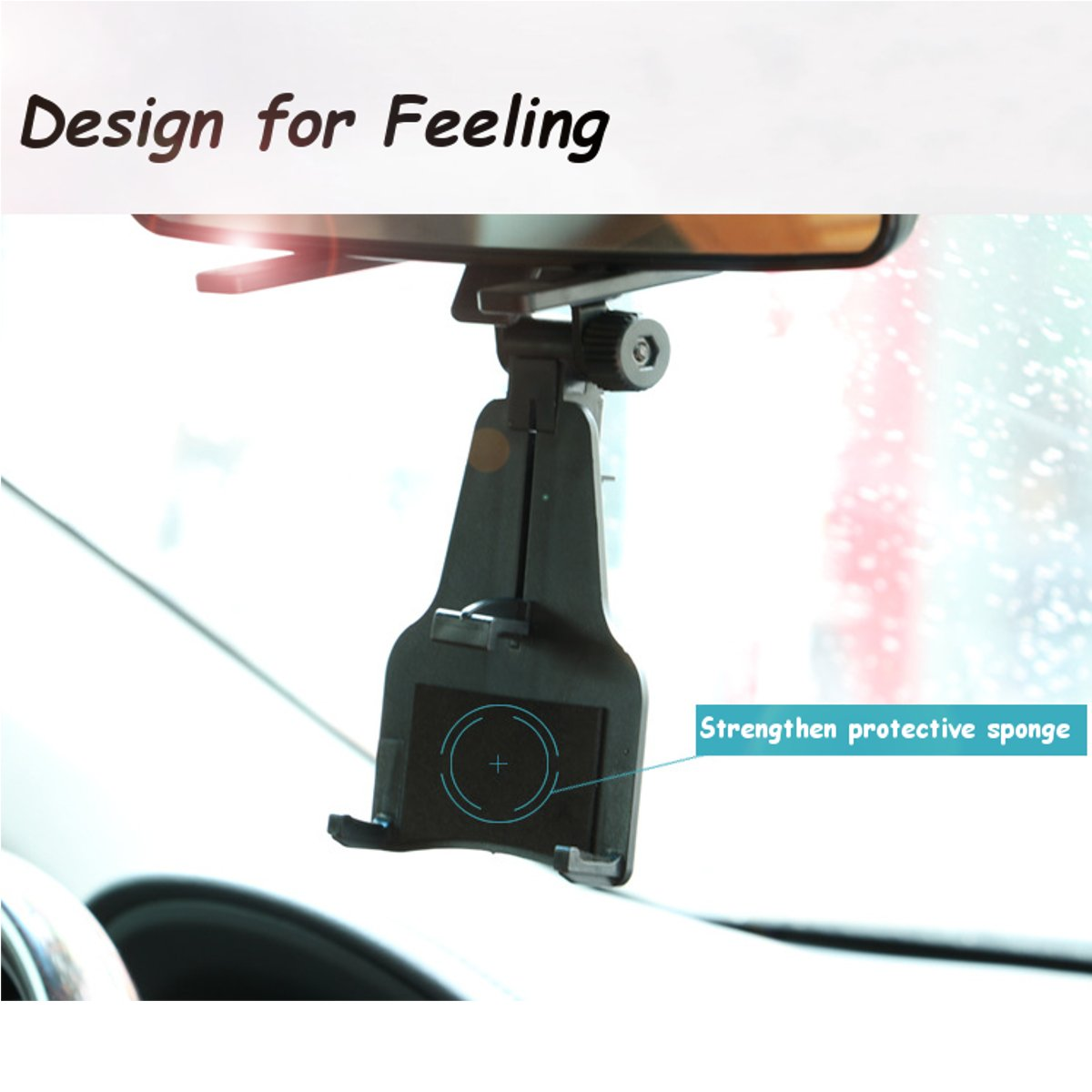 Universal Auto Car Rearview Mirror Mount Holder Phone Bracket for iPhone Samsung Xiaomi GPS
