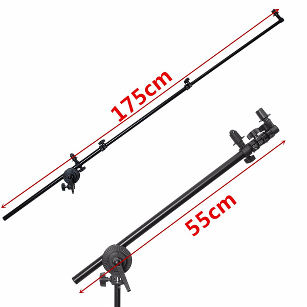 24-66 inch Collapsible Reflector Holder Oblique Arm Studio Photography Light Stand