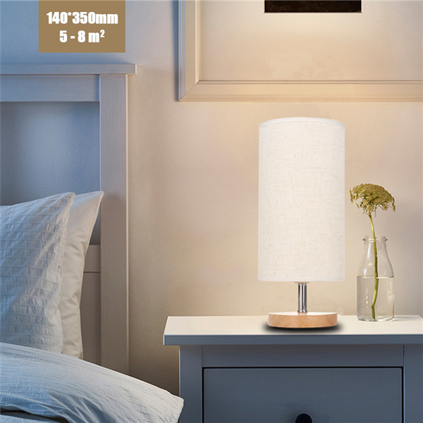 E27 Modern Wooden Desk Lamp Eye-Care Fashion Night Light for Wedding Bedroom Home Decor