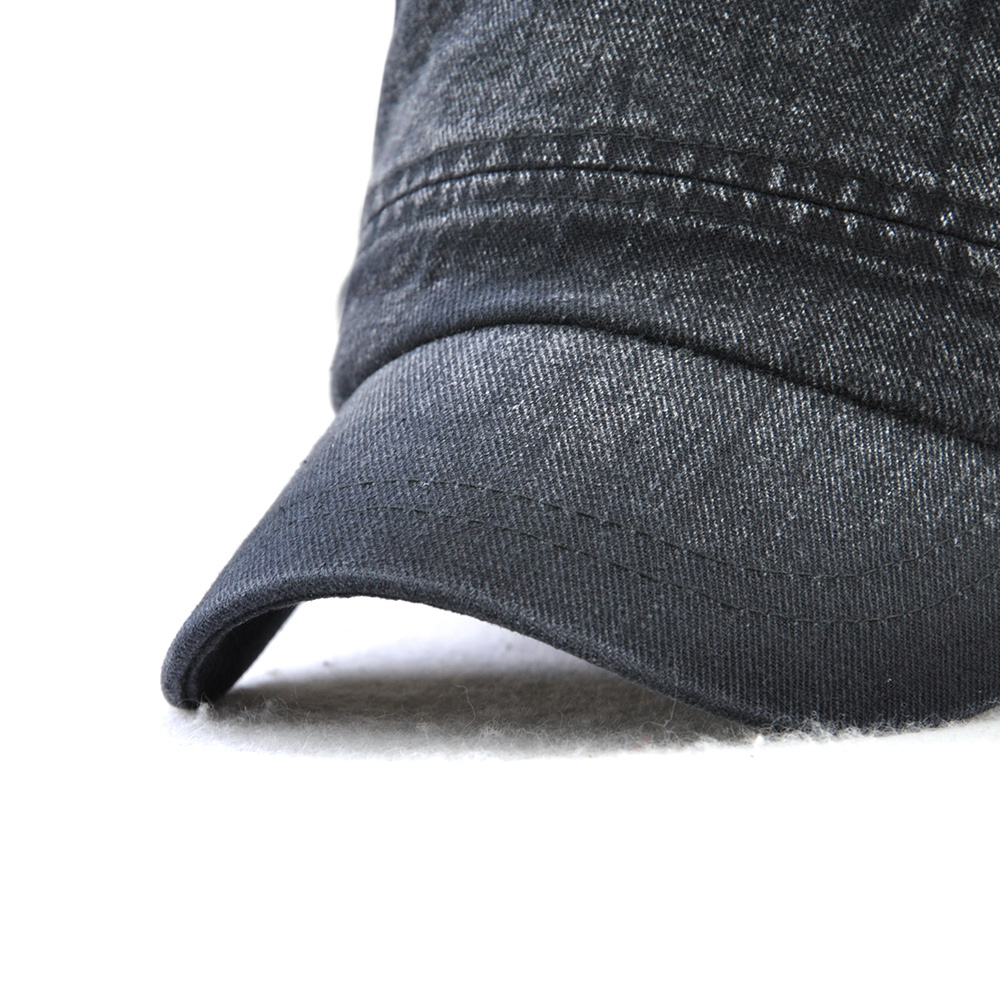 Dad Washed Cotton Flat Hats Visor Caps for Mens