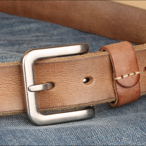 125CM Mens First Layer Of Leather Needle Buckle Belt Fashion Vintage Strap for Jeans