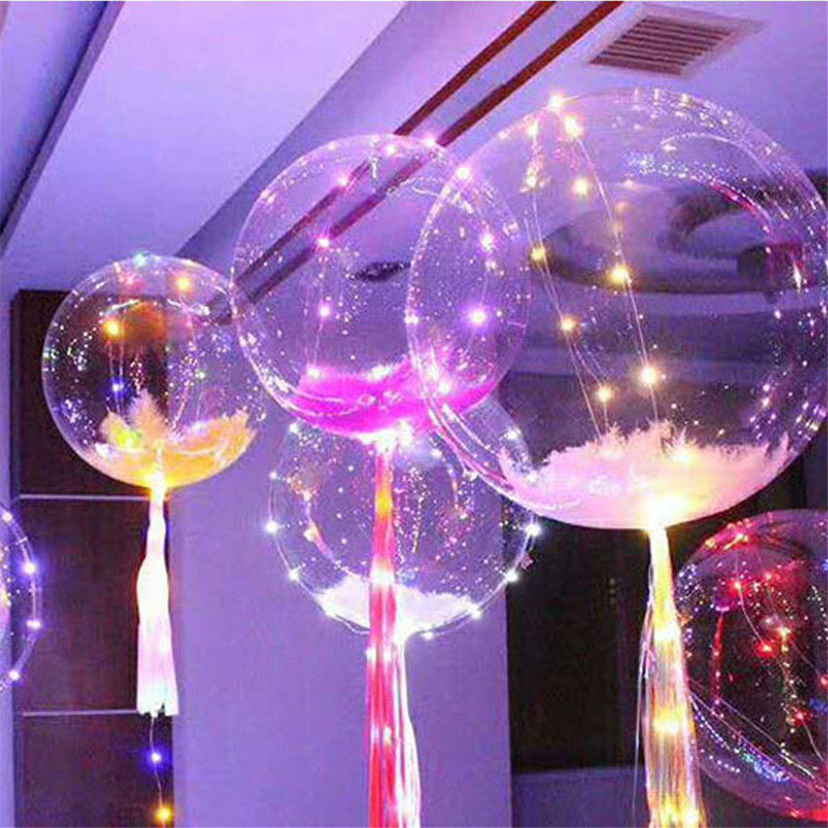 LED Colorful Christmas String Light Transparent Balloon Wedding Party Decor