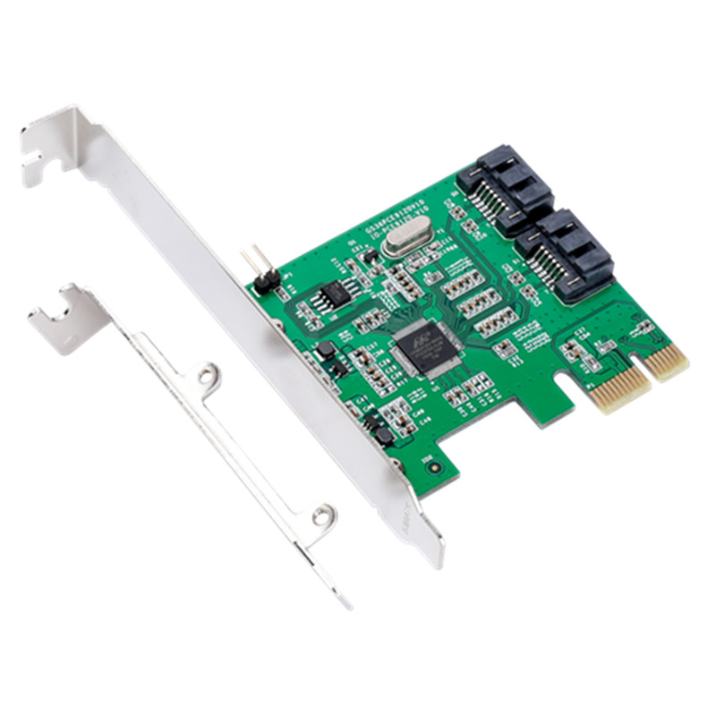 IOCREST IO-PCE9120-2I PCI-E to 2 SATA 3.0 Expansion Card SSD Boot 4TB for Desktop