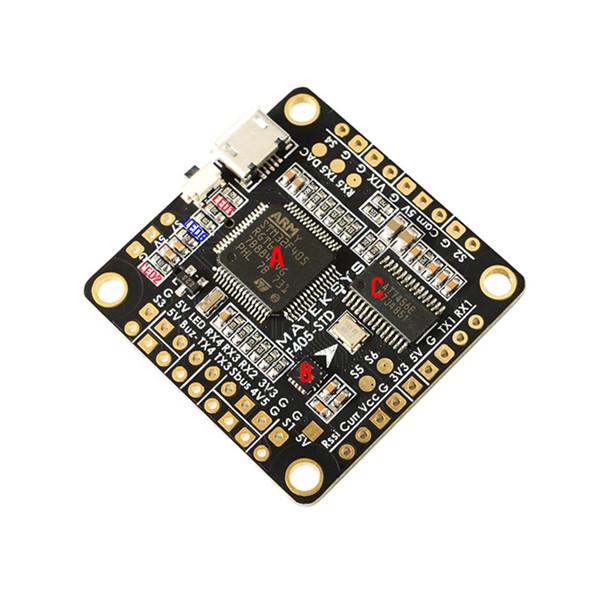 Matek F405-STD BetaFlight STM32F405 Flight Controller+Matek FCHUB-6S Hub Power Distribution Board for RC Drone