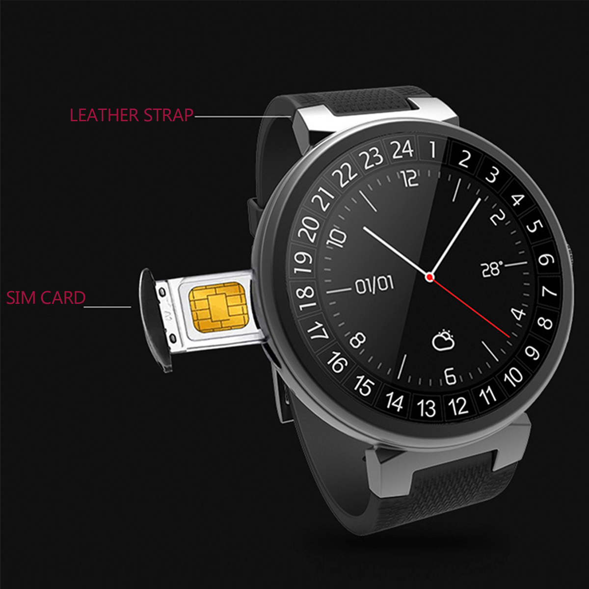 3G Android 5.1 2+16GB WIFI bluetooth SIM GSM GPS Camera Heart Rate Smart Watch