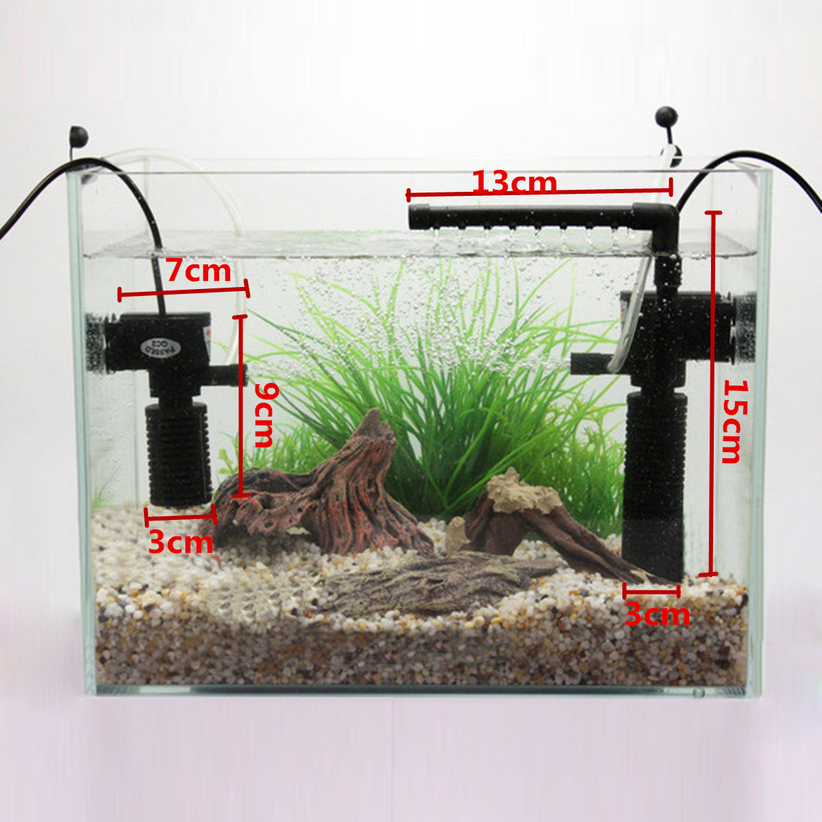 Ultra Silent Aquarium Submersible Oxygen Pump Fish Tank Water Internal Filter Circulating Rainfall