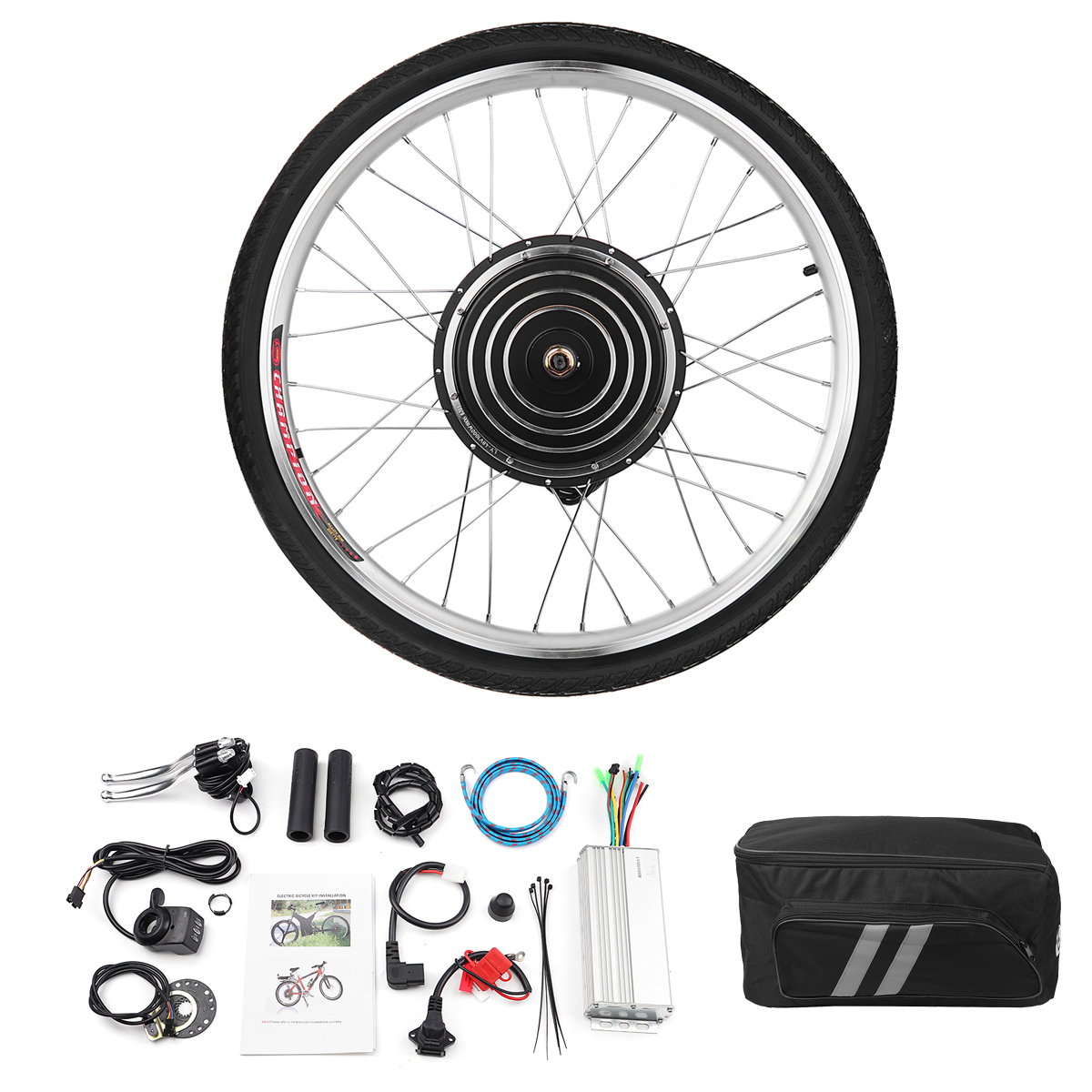 36V 500W 26inch Rear Wheel Electric Bicycle Brushless Motor Conversion Kit Bike Cycling Hub