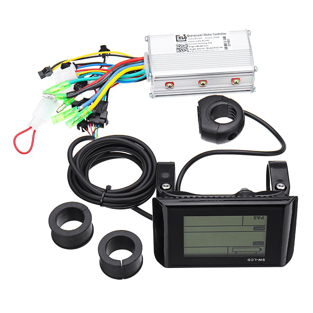 LDC Controller+Lcd Display 24v36v48v60v 250w 350w For Electric Scooter Bike Motorcycle Speedometer