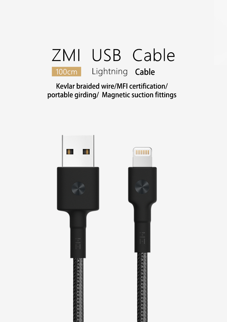 Original Xiaomi ZMI Lightning for Fast Charging Phone Data Cable for iPhone S8 X