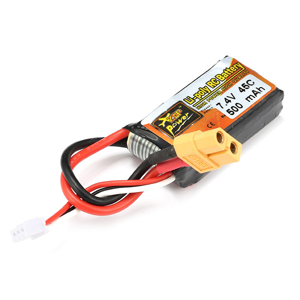 4 X ZOP Power 7.4V 500mAh 45C 2S Lipo Battery XT60 Plug